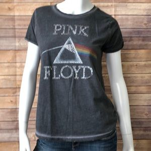Lucky brand Pink Floyd distressed graphic band tee